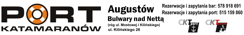 Port katamaranów Augustów Katamarany rejsy Dolina Rospudy